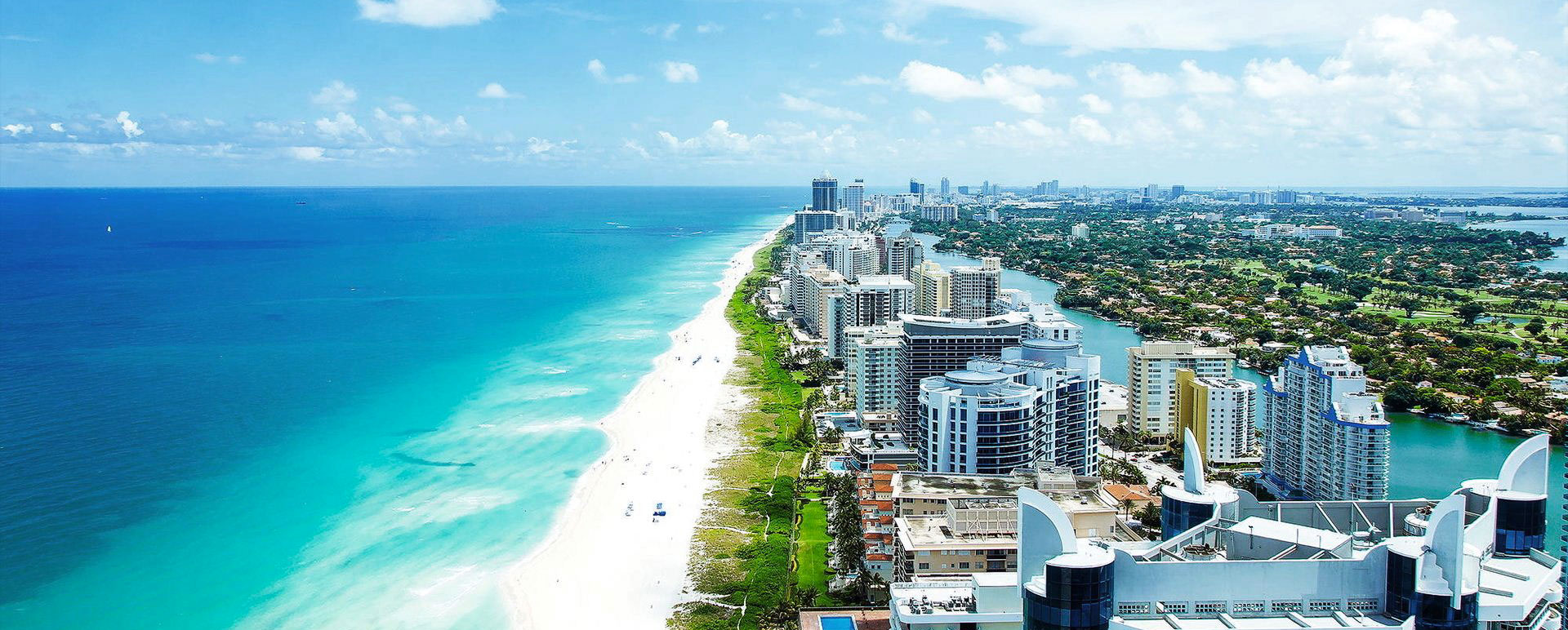 Miami Beach from Drone View