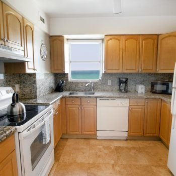 Ocean View kitchen at Seacoast Suites