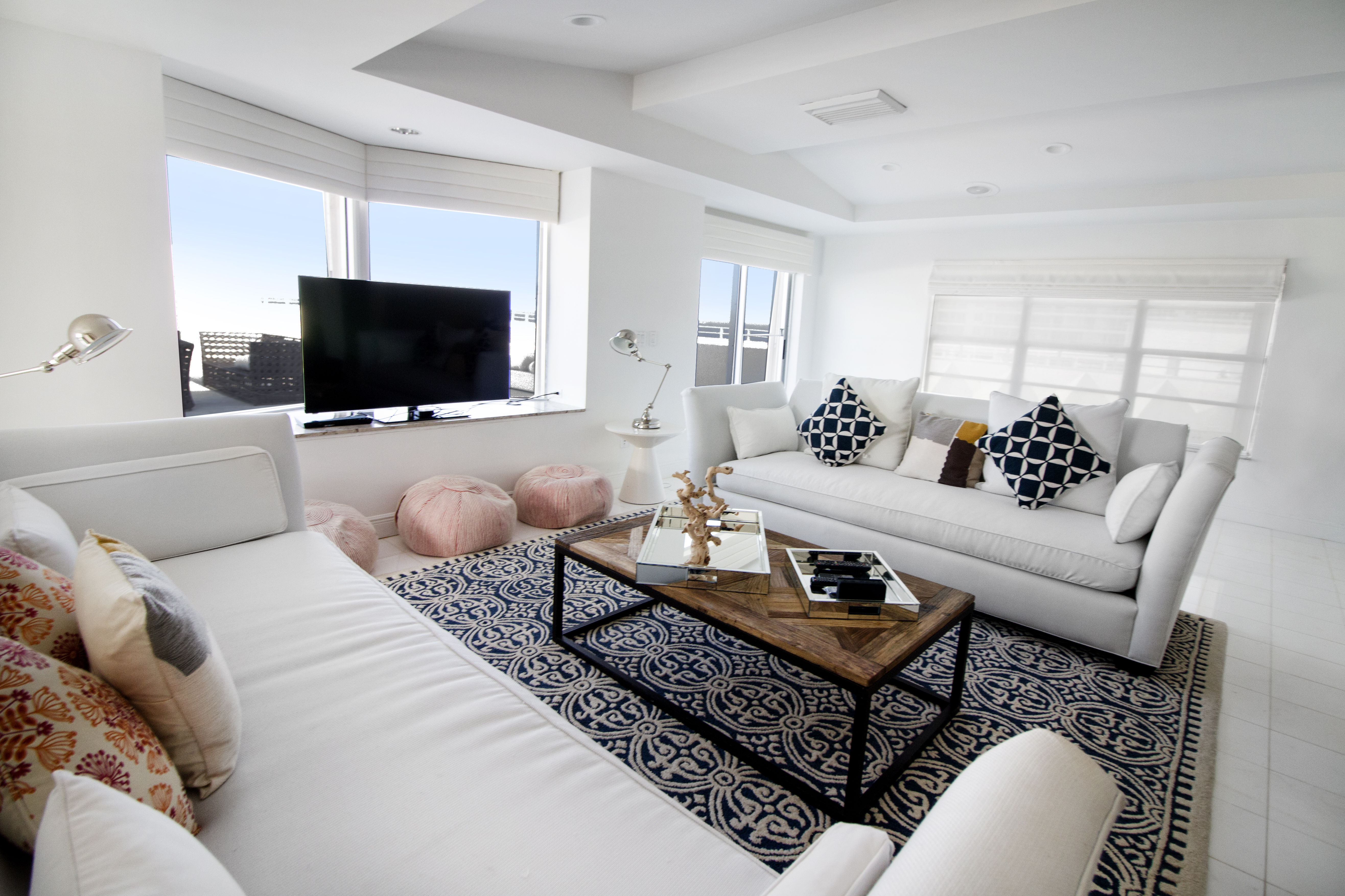 Living room of the Penthouse at Seacoast Suites