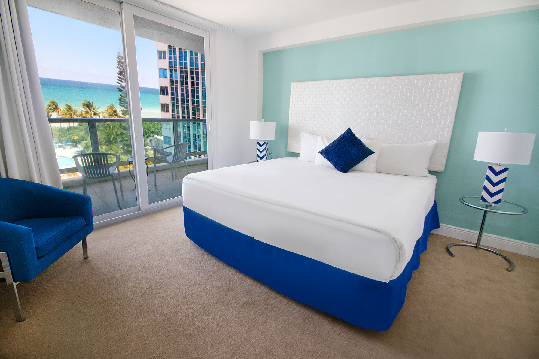 Ocean View Bedroom of a Deluxe 2 bedroom apartment at Seacoast Suites