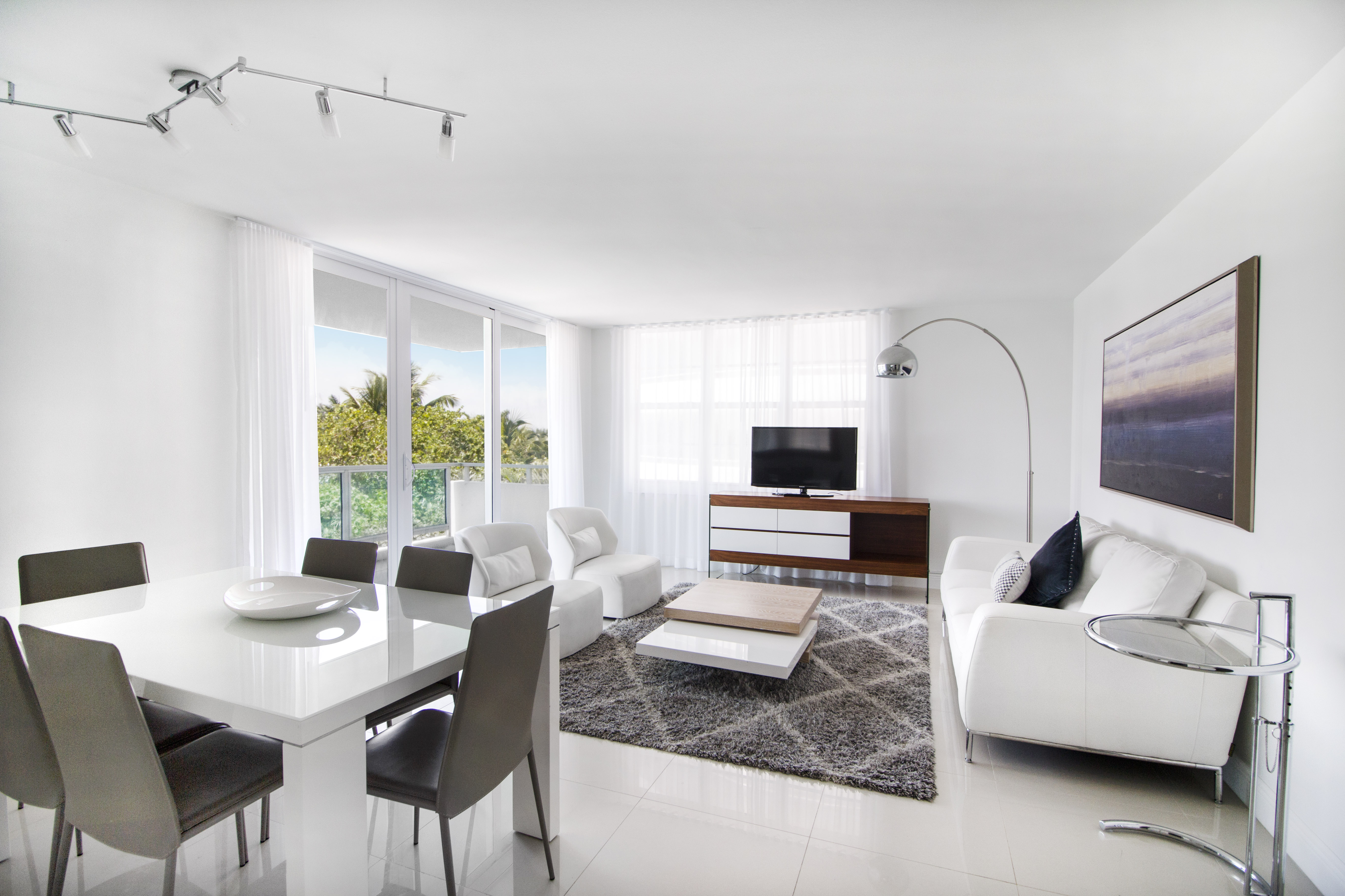Living room of Master 2 bedrooms suite at Seacoast Suites