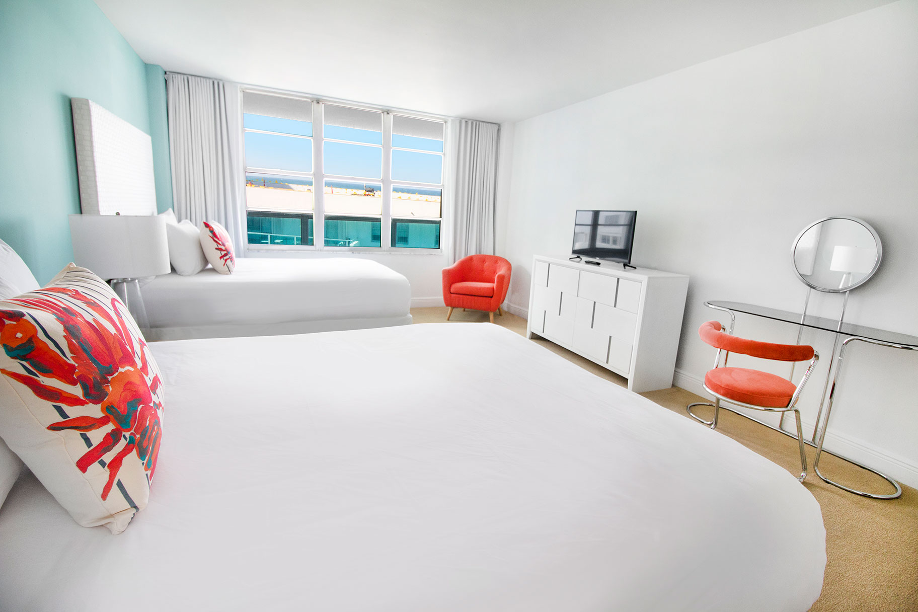 Bedroom of a Deluxe 1 Bedroom Apartment at Seacoast Suites