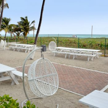 Private Beach Area at Seacoast Suites