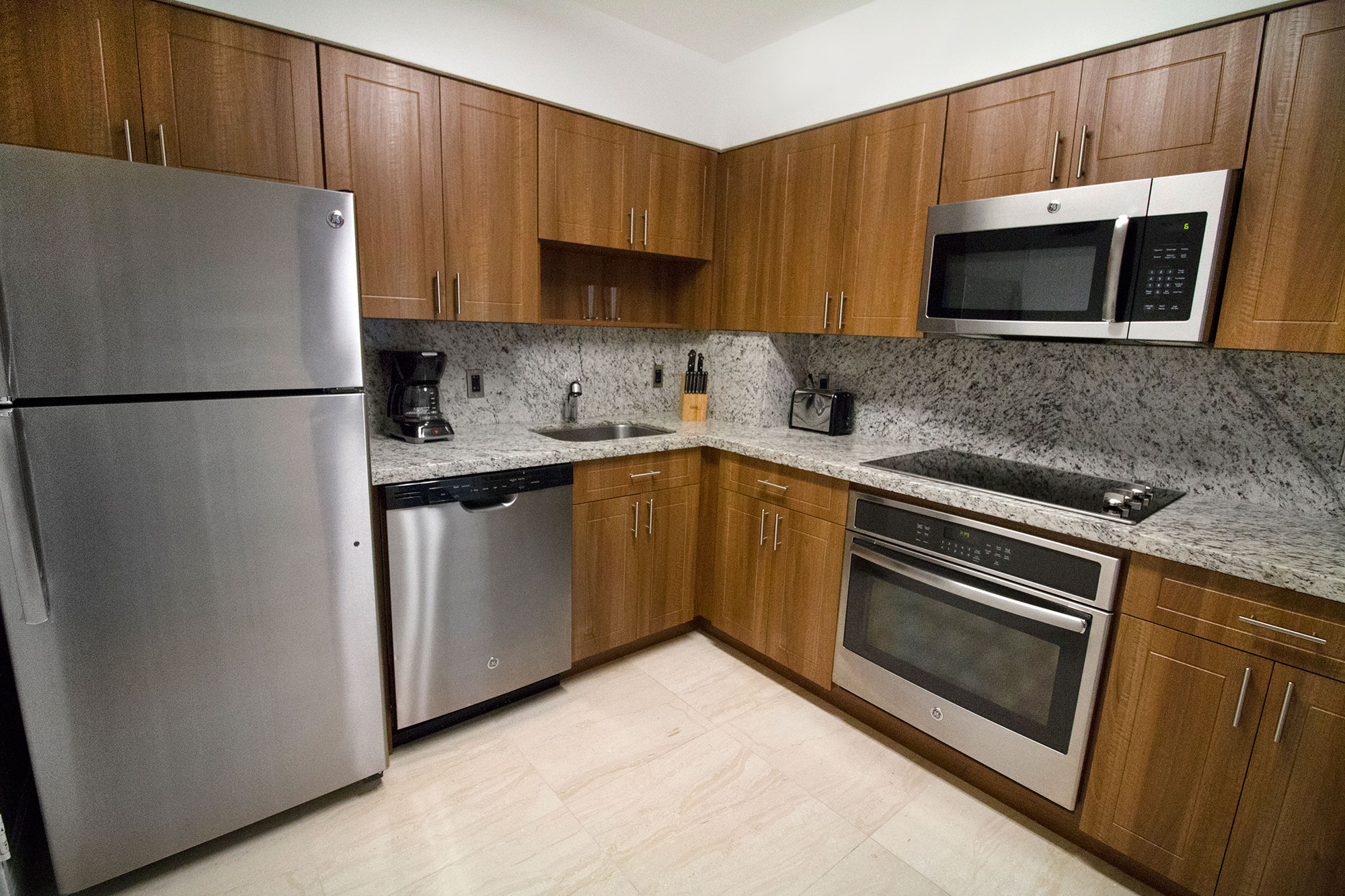 Kitchen at Seacoast Suites