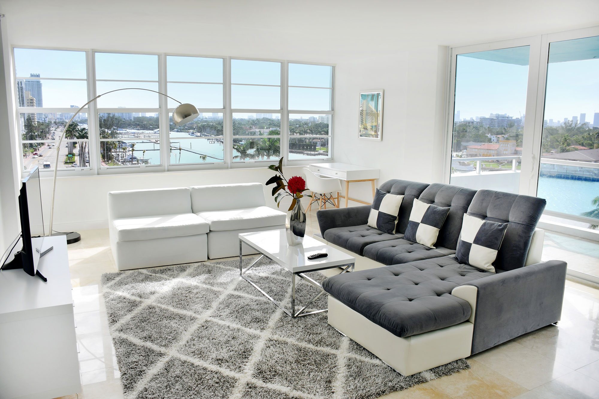 Living Room at Seacoast Suites