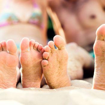 Foot on the beach