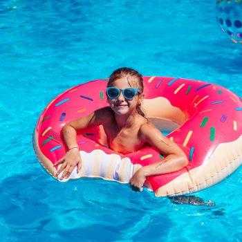 girl on the pool