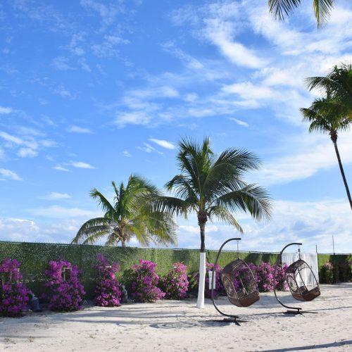 Private Beach area at Seacoast Suites on Miami Beach