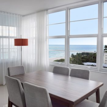 Dining Area of an apartment at Seacoast Suites apartments on Miami Beach
